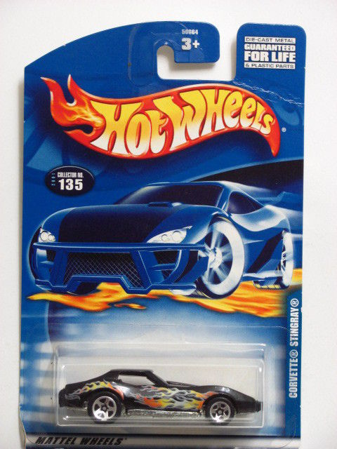 HOT WHEELS 2001 CORVETTE STINGRAY #135 BLACK