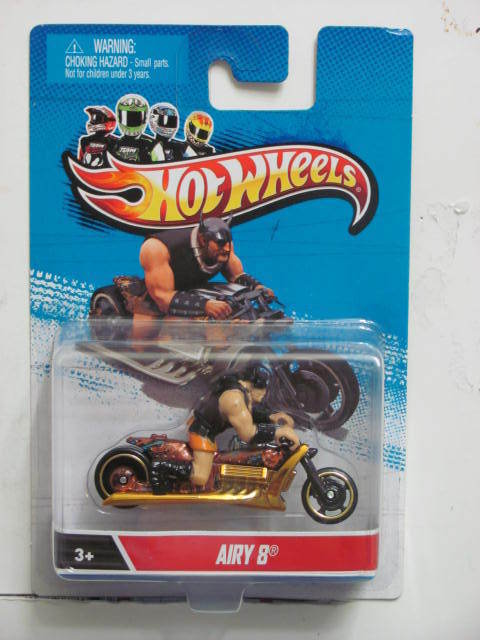 HOT WHEELS MOTORCYCLES AIRY 8 GOLD 1:64 SC