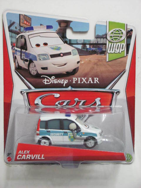 DISNEY PIXAR CARS 2013 ALEX CARVILL WHITE