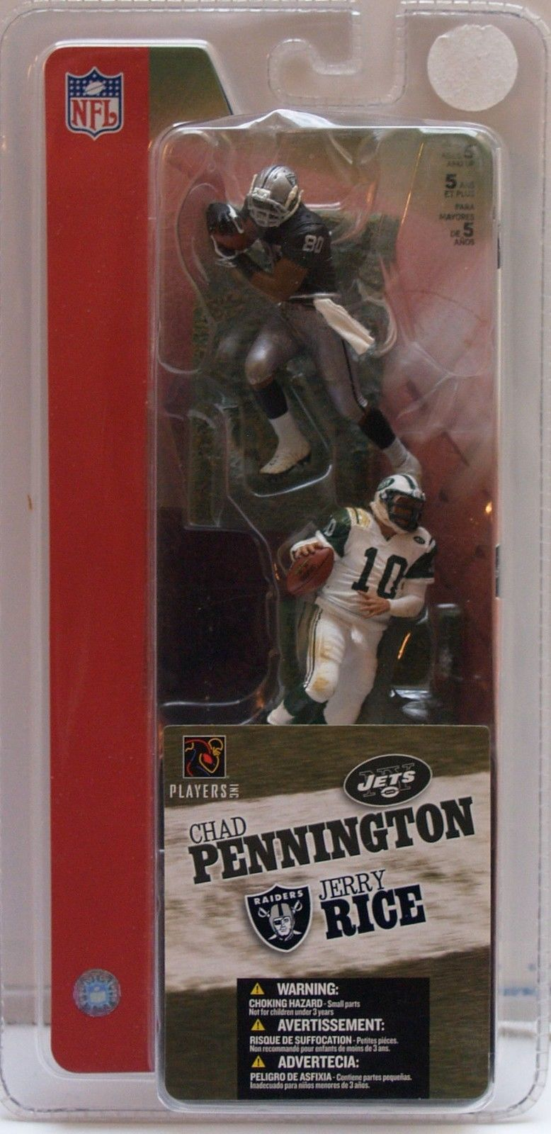 McFARLANE SPORTS NFL ACTION FIGURES - JERRY RICE #80 & CHAD PENNINGTON #10