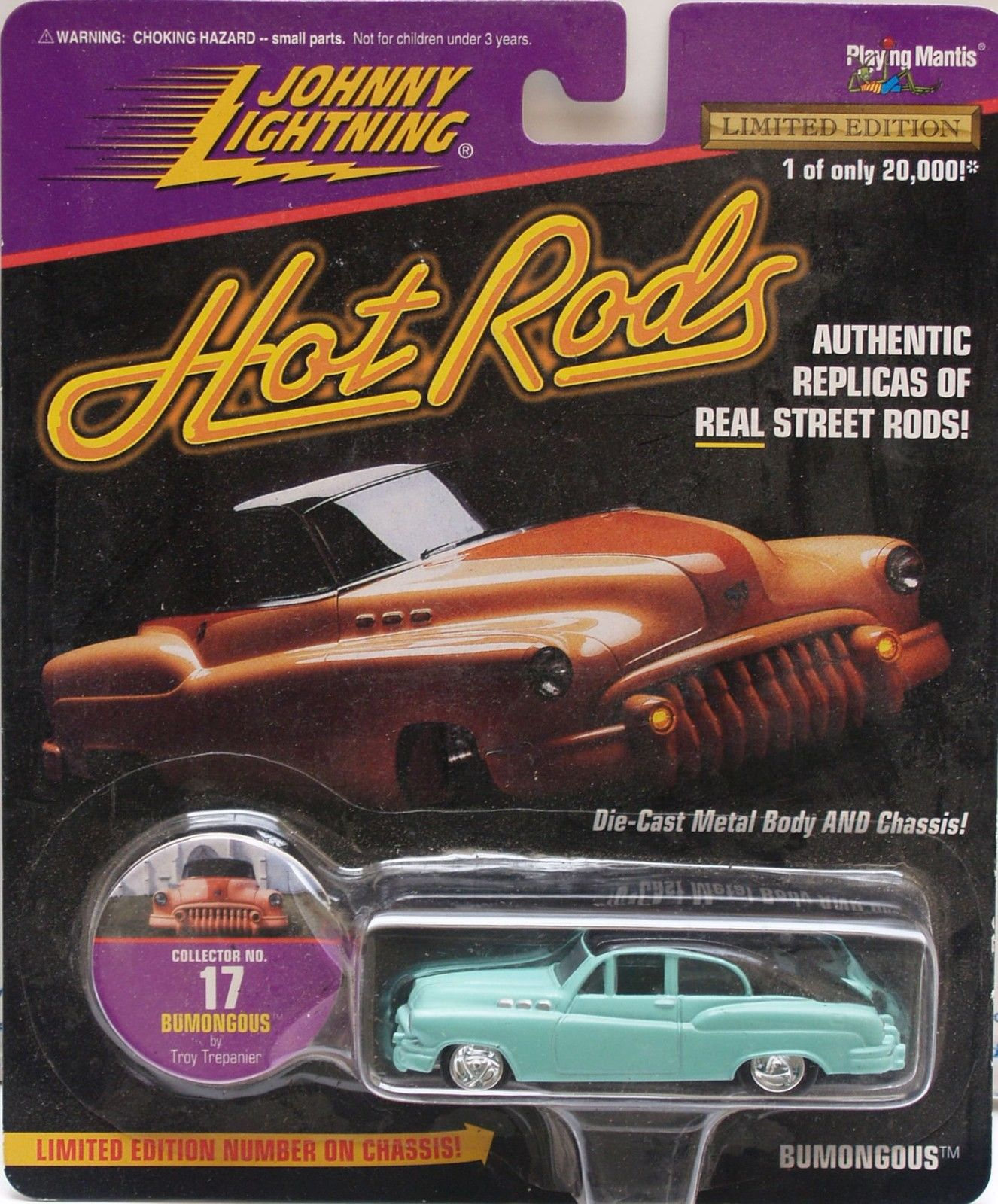 1997 JOHNNY LIGHTNING HOT RODS - BUMONGOUS - LIMITED EDITION