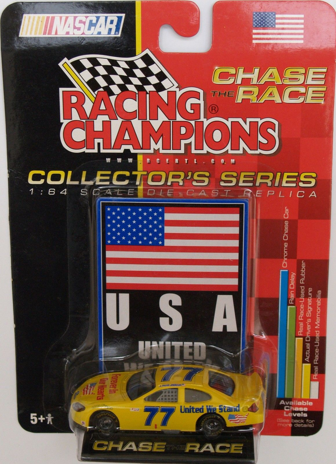2001 RACING CHAMPIONS - CHASE THE RACE - #77 UNITED WE STAND