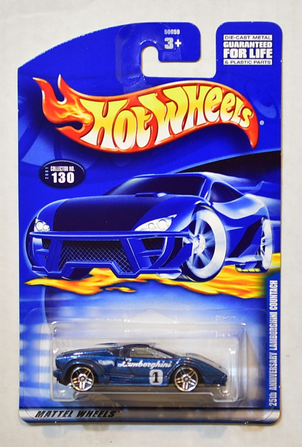 HOT WHEELS 2001 25TH ANNIVERSARY LAMBORGHINI COUNTACH #130
