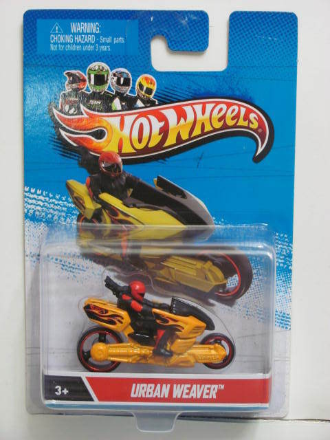 HOT WHEELS MOTORCYCLE URBAN WEAVER YELLOW