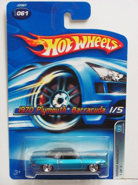 HOT WHEELS 2006 1970 PLYMOUTH BARRACUDA 1/5 MOPAR MADNESS BLUE #061