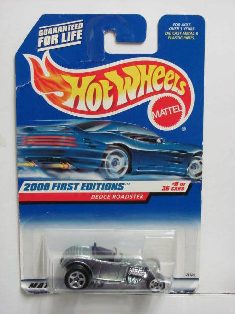 HOT WHEELS 2000 FIRST EDITIONS DEUCE ROADSTER #066 ZAMAC