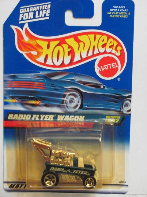 HOT WHEELS 1999 RADIO FLYER WAGON #837 BLUE MIB