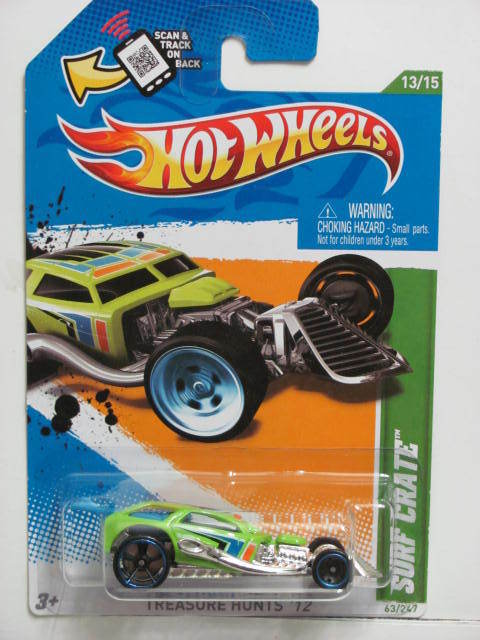 HOT WHEELS 2012 TREASURE HUNTS SURF CRATE