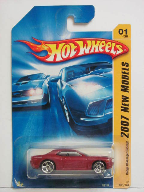 HOT WHEELS 2007 NEW MODELS DODGE CHALLENGER CONCEPT #01/36 RED