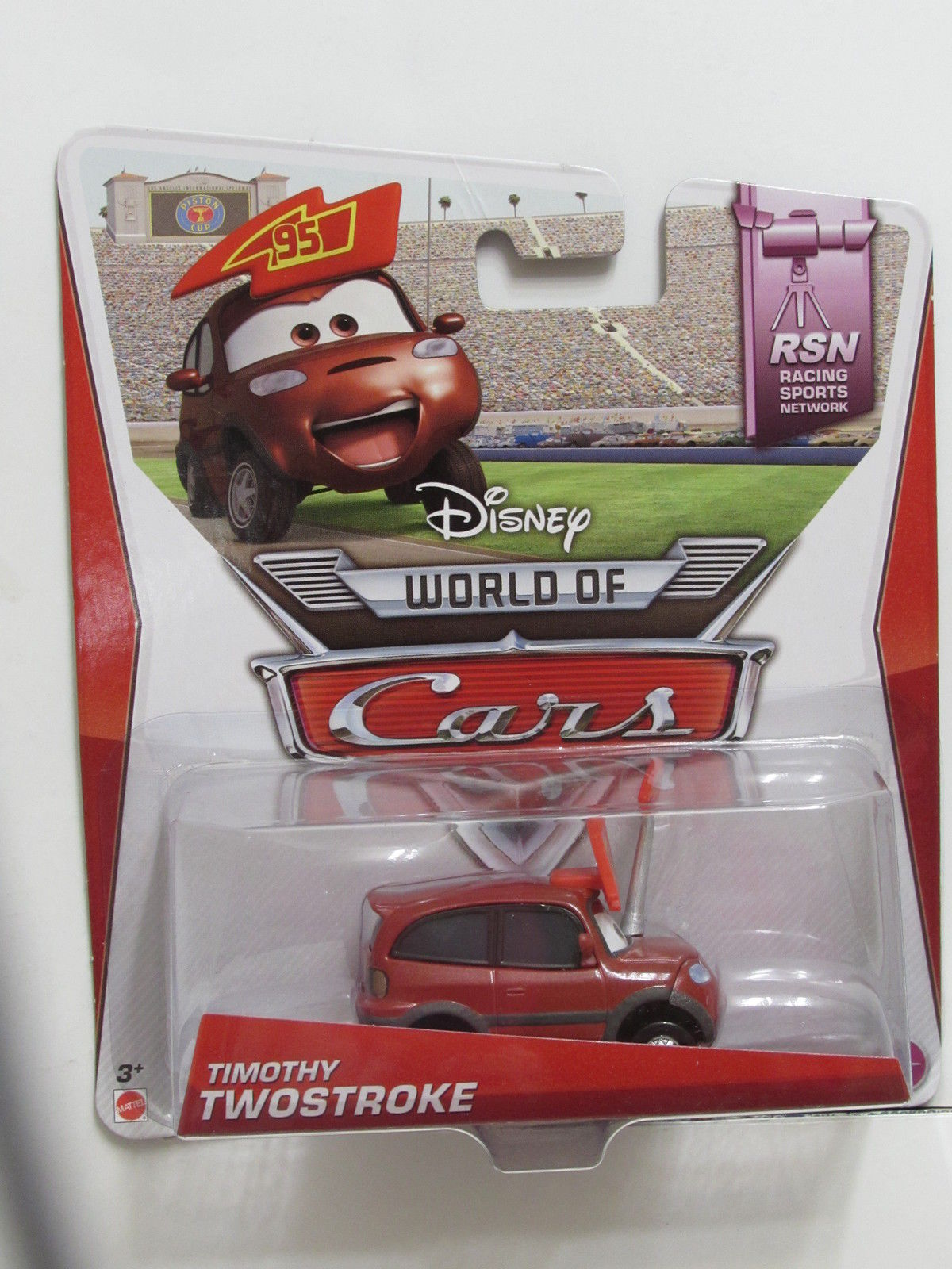 DISNEY PIXAR CARS WORLD OF CARS TIMOTHY TWOSTROKE