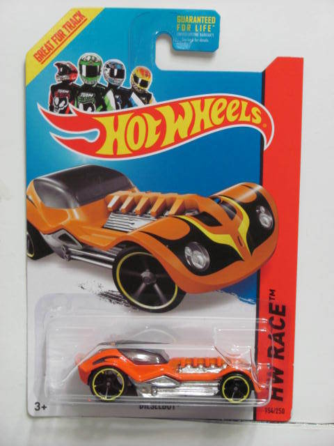 HOT WHEELS 2014 HW RACE - THRILL RACERS DIESELBOY ORANGE