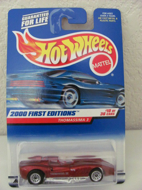 HOT WHEELS 2000 FIRST EDITIONS THOMASSIMA 3 #10/36