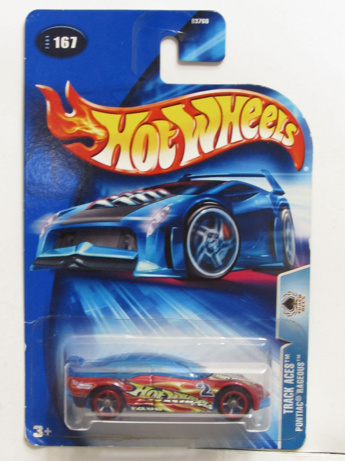 HOT WHEELS 2004 TRACK ACES PONTIAC RAGEOUS #167 E+