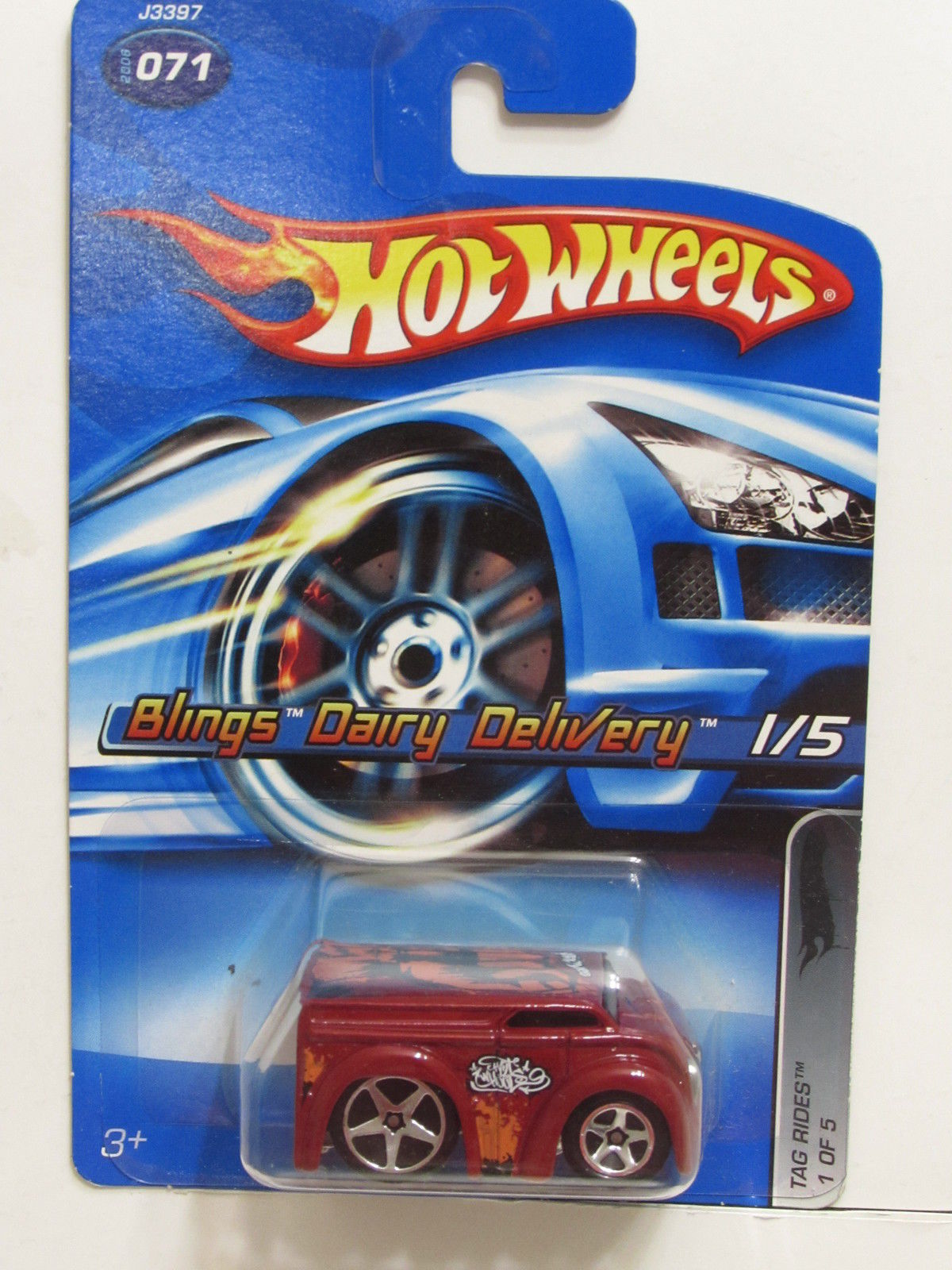HOT WHEELS 2006 TAG RIDES BLINGS DAIRY DELIVERY #071