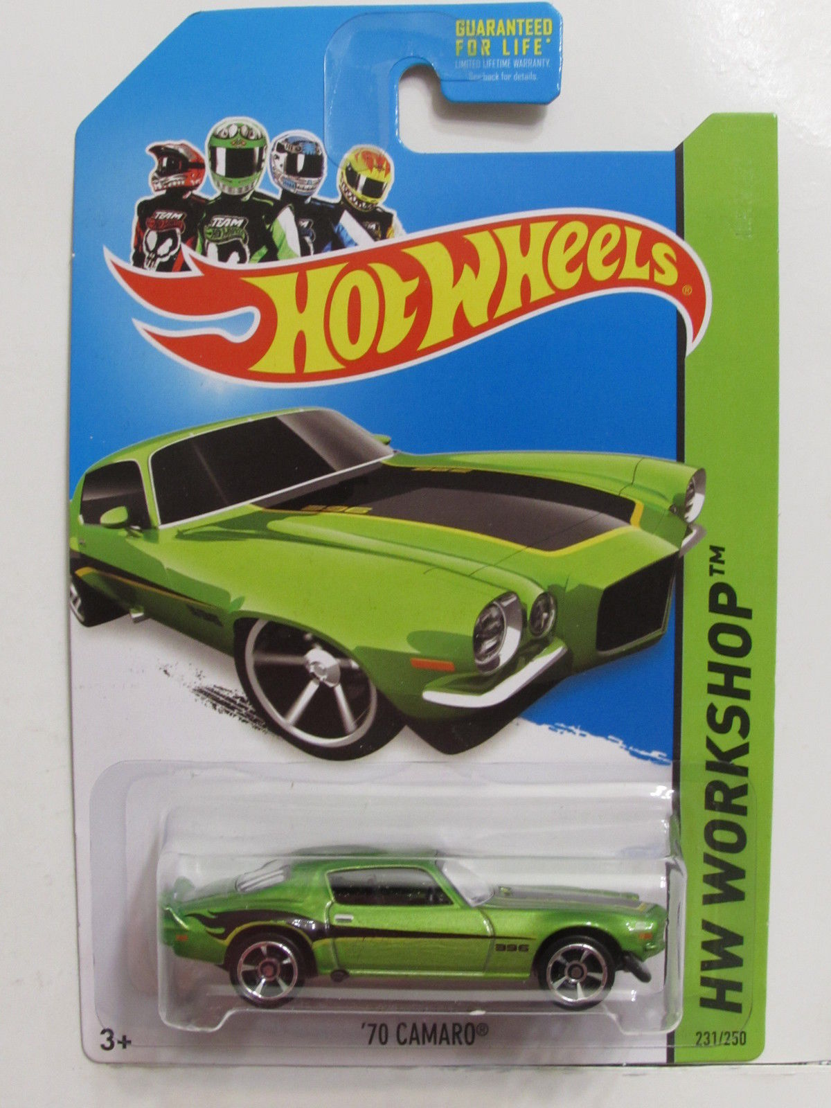 HOT WHEELS 2014 HW WORKSHOP - MUSCLE MANIA '70 CAMARO GREEN