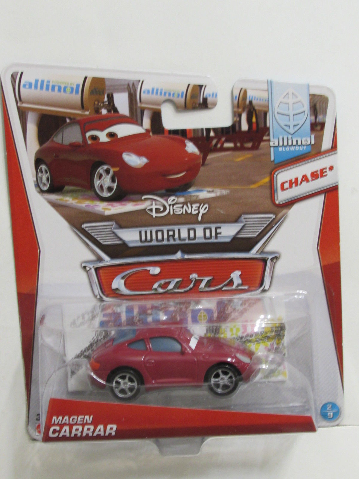 DISNEY PIXAR CARS WORLD OF CARS ALLINOL BLOWOUT MAGEN CARRAR CHASE