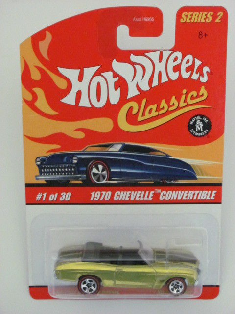 HOT WHEELS CLASSICS SERIES 2 - 1970 CHEVELLE CONVERTIBLE E+