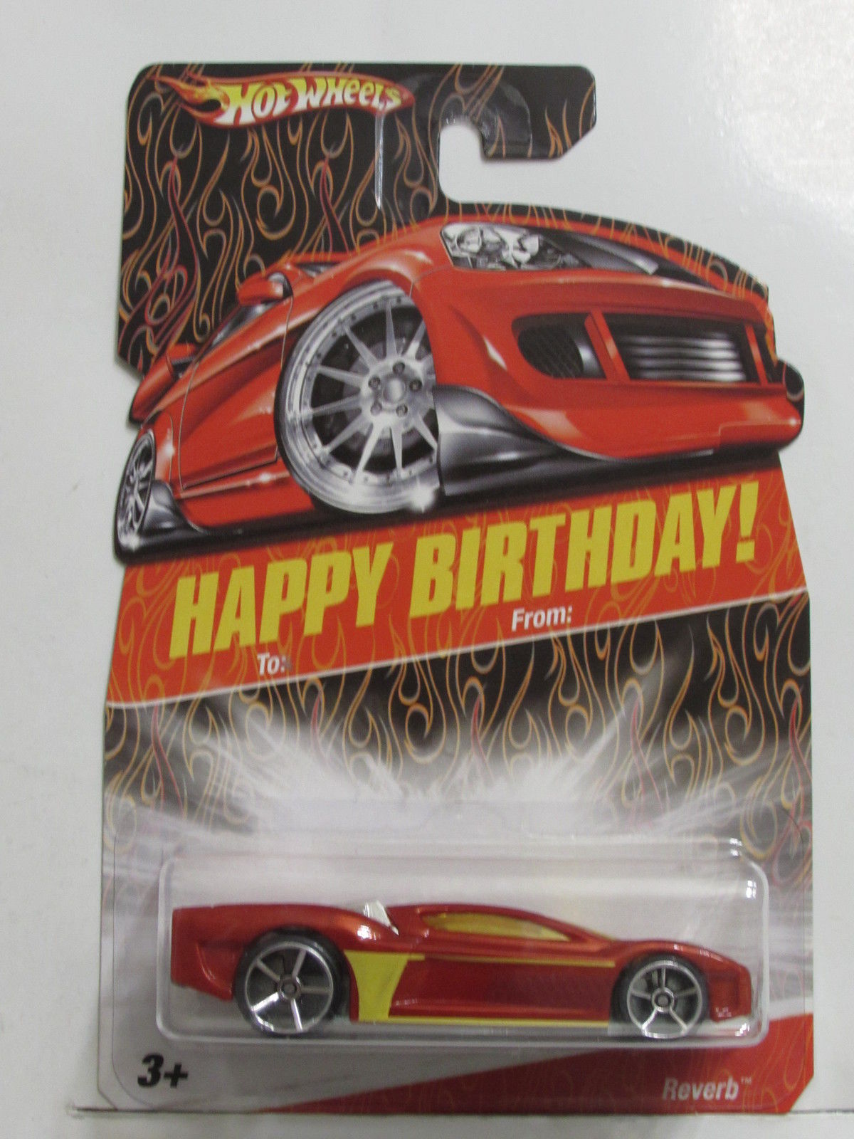 HOT WHEELS HAPPY BIRTHDAY REVERB RED