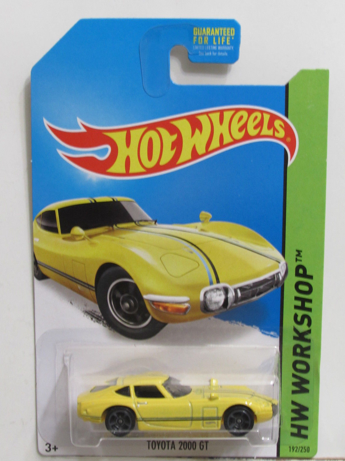 HOT WHEELS 2014 HW WORKSHOP HW ALL STARS TOYOTA 2000 GT YELLOW