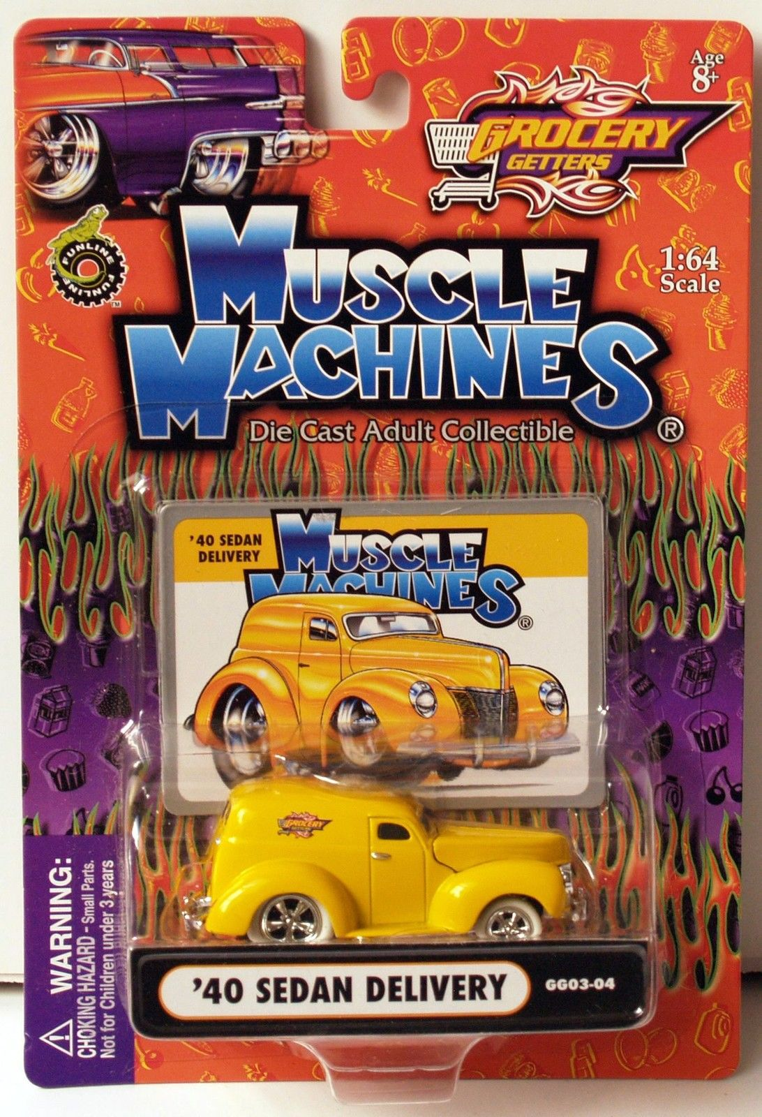 FUNLINE MUSCLE MACHINES 2003 - GROCERY GETTERS - YELLOW '40 SEDAN DELIVERY