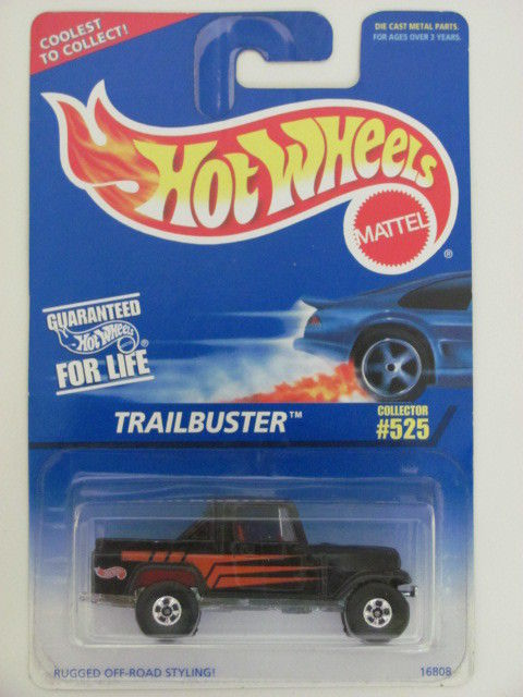 HOT WHEELS 1996 TRAILBUSTER BLACK #525 SCALE 1:64