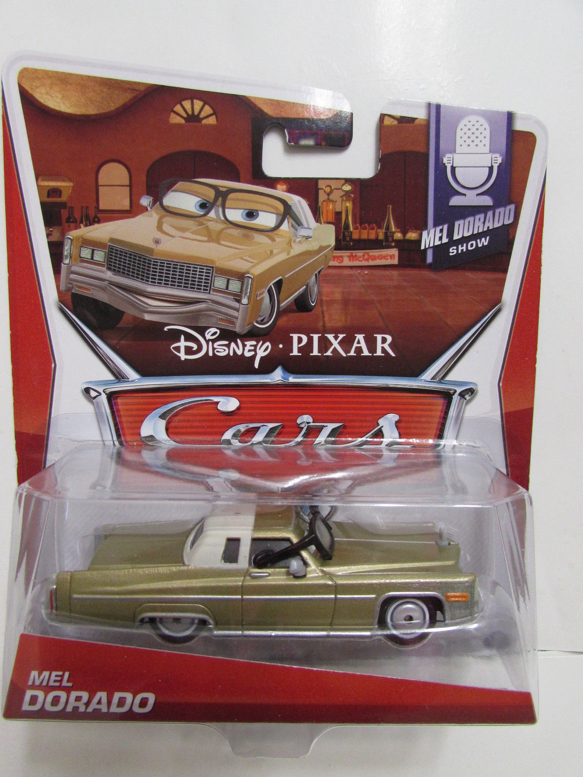 DISNEY PIXAR CARS MEL DORADO #5/9 WITH GLASSES E+
