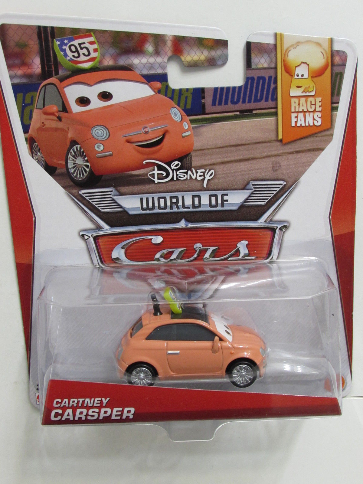 DISNEY PIXAR CARS RACE FANS CARTNEY CARSPER