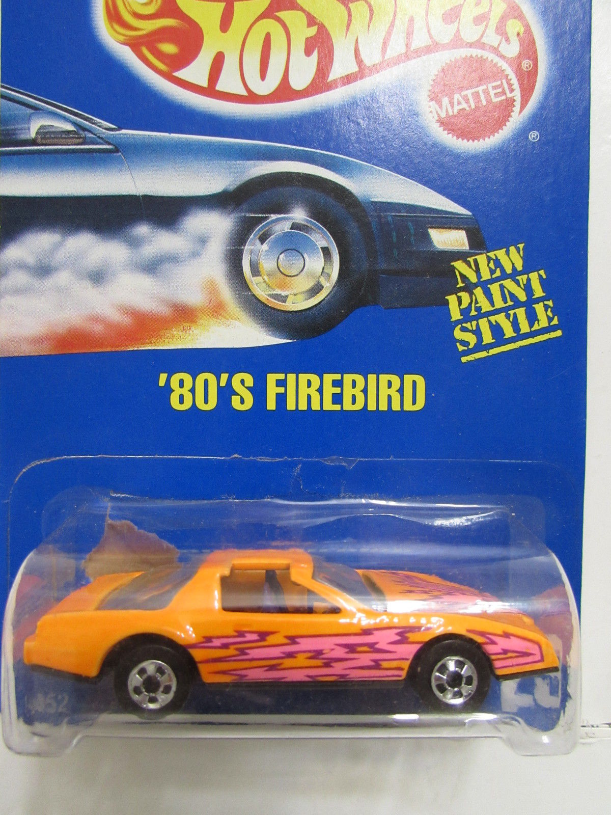 HOT WHEELS 1991 BLUE CARD 80's FIREBIRD #167 NEW PAINT STYLE