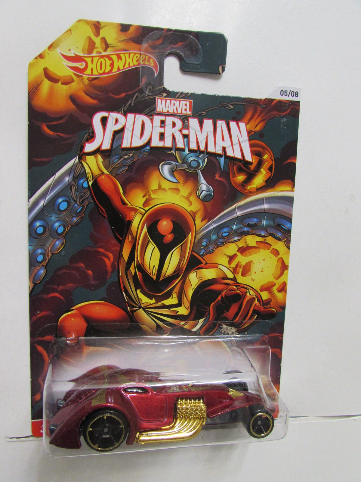 HOT WHEELS MARVEL SPIDER-MAN WALMART EXCLUSIVE HAMMERED COUPE #5/8
