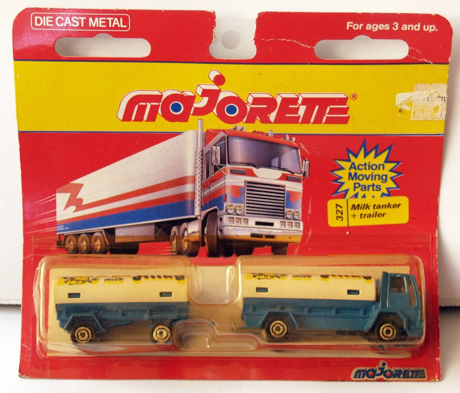 MAJORETTE FRANCE MILK TANKER + TRAILER #327 2 CAR PACK