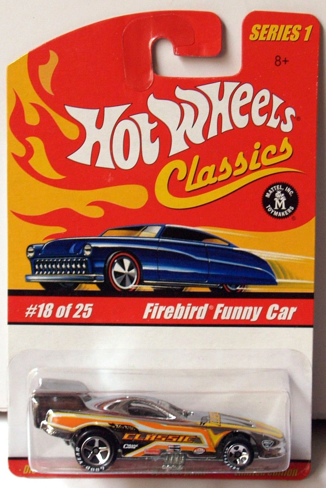 HOT WHEELS CLASSICS SERIES 1 #18/25 FIREBIRD FUNNY CAR CHROME