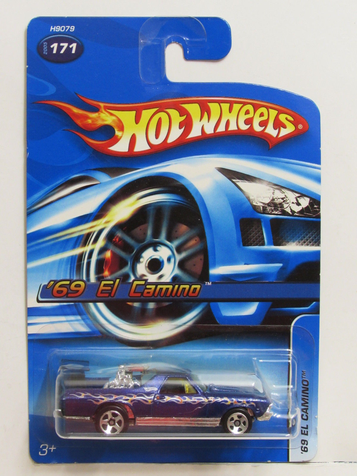 HOT WHEELS 2005 '69 EL CAMINO #171 BLUE