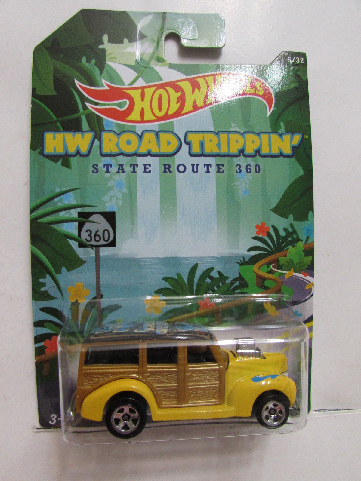 HOT WHEELS HW ROAD TRIPPIN' STATE ROUTE 360 '40S WOODIE E+