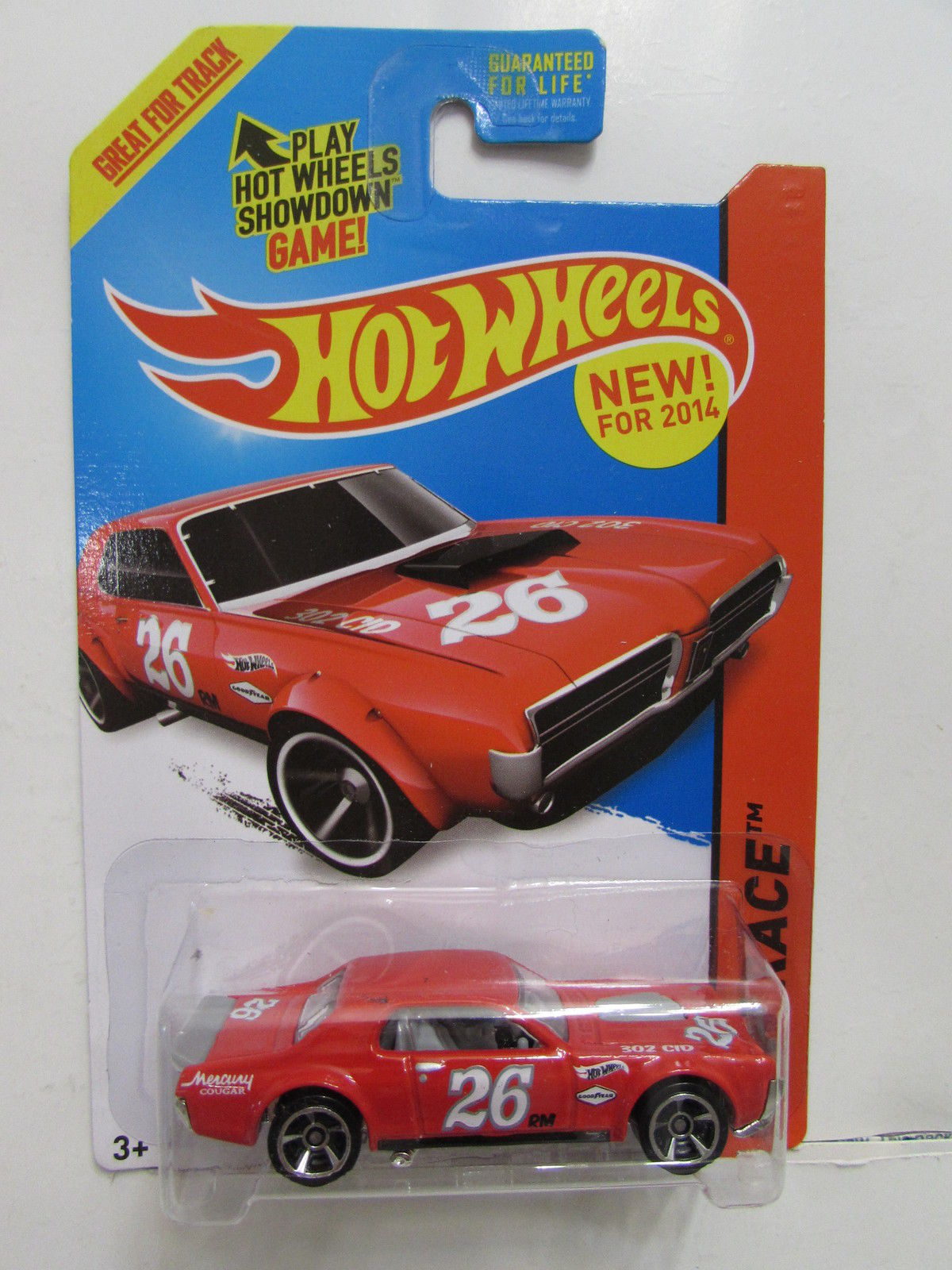 HOT WHEELS 2014 HW RACE - TRACK ACES '68 MERCURY COUGAR