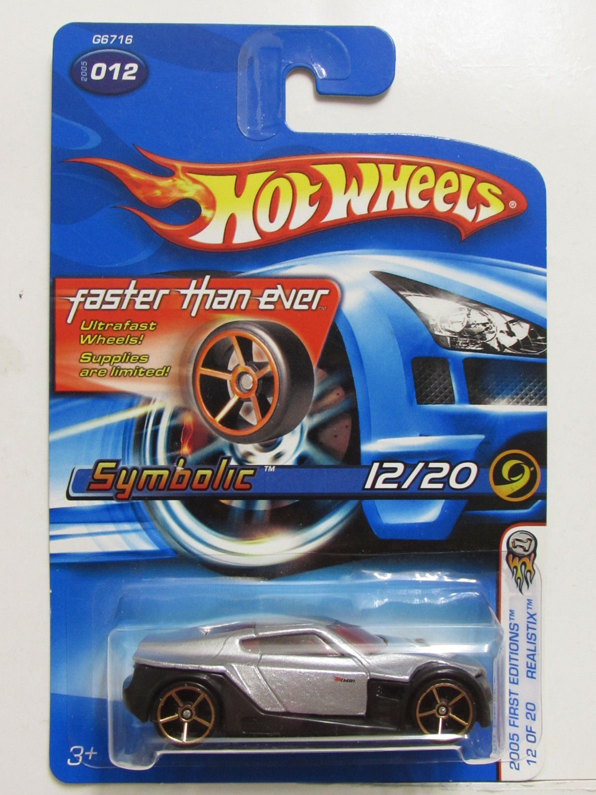 HOT WHEELS 2005 FIRST EDITIONS REALISTIX FTE #12 SYMBOLIC