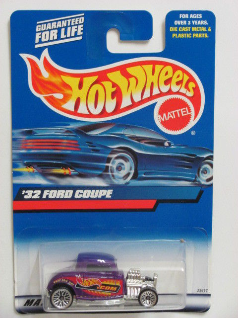 HOT WHEELS 2000 '32 FORD COUPE #195 PURPLE MIB
