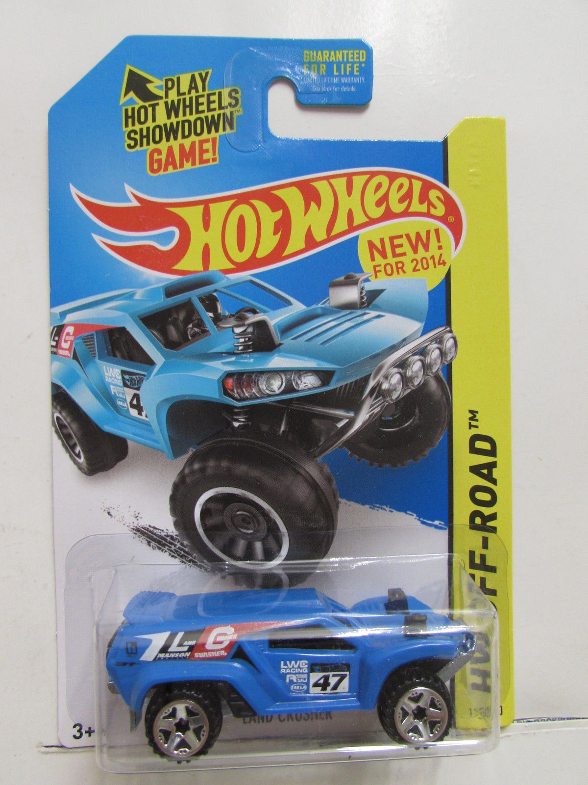 HOT WHEELS 2014 HW OFF ROAD - OFF TRACK LAND CRUISHER BLUE