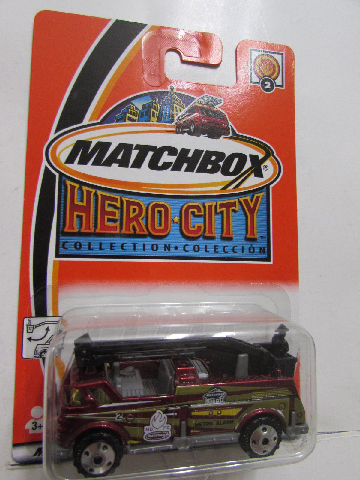 MATCHBOX 2002 HERO CITY BUCKET FIRE TRUCK