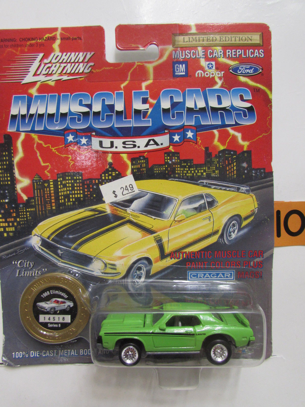 JOHNNY LIGHTNING MUSCLE CARS U.S.A 1969 ELIMINATOR GREEN