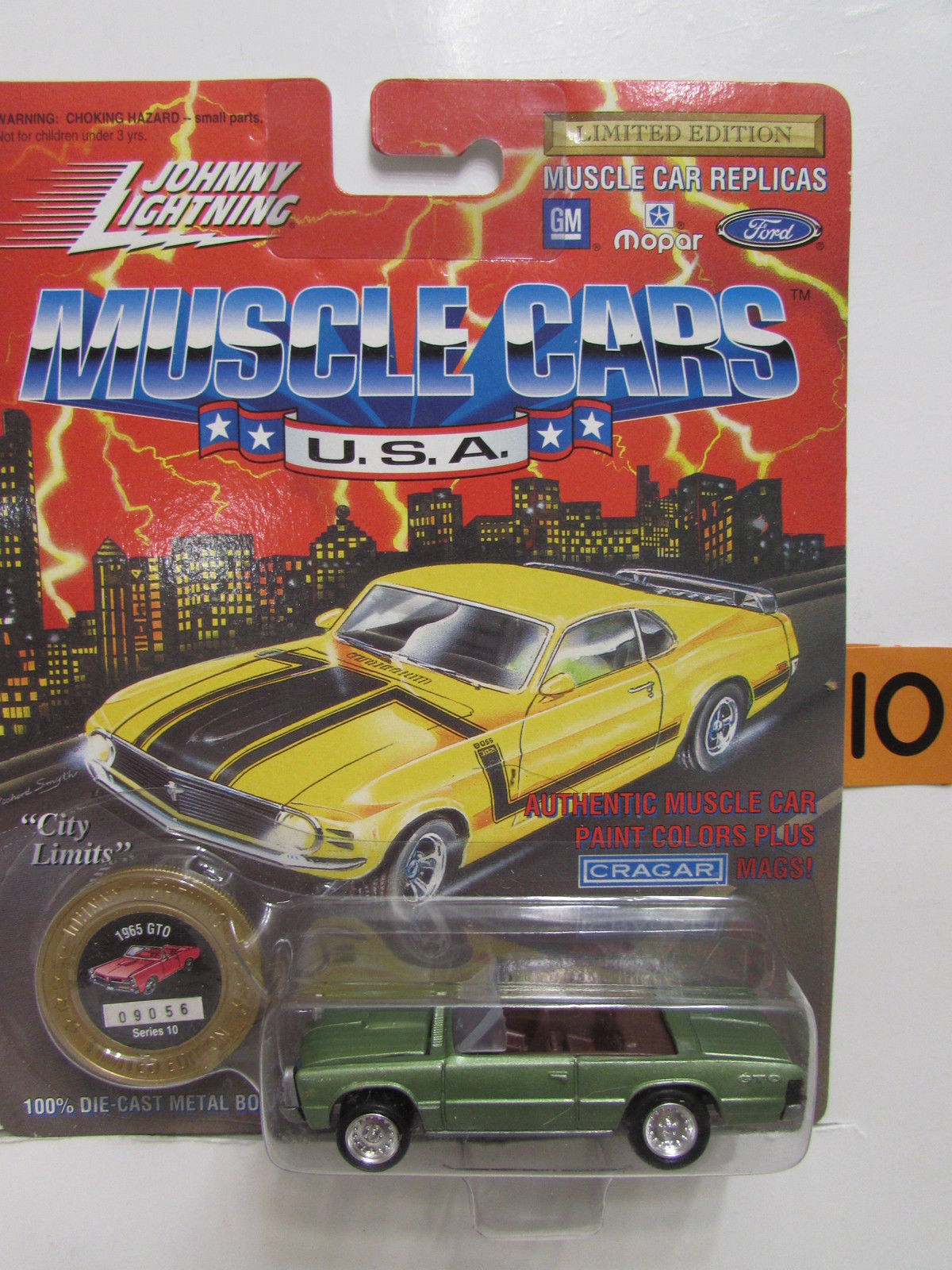 1994 JOHNNY LIGHTNING MUSCLE CARS - 1965 GTO GREEN SERIES 10