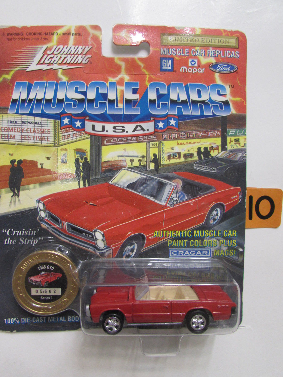 1994 JOHNNY LIGHTNING MUSCLE CARS - 1965 GTO RED SERIES 3