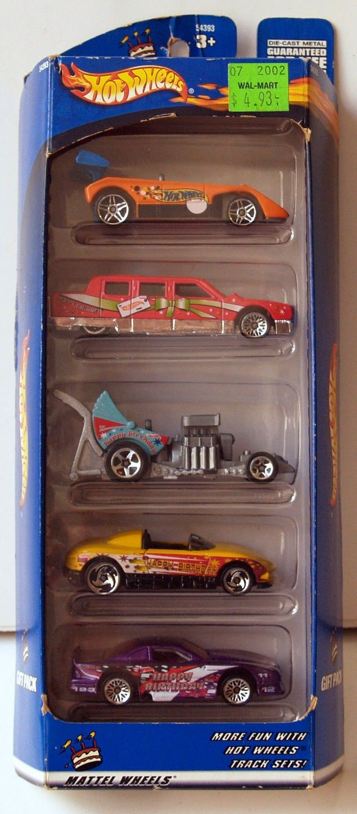 2000 HOT WHEELS - HAPPY BIRTHDAY GIFT PACK - 5 CAR PACK