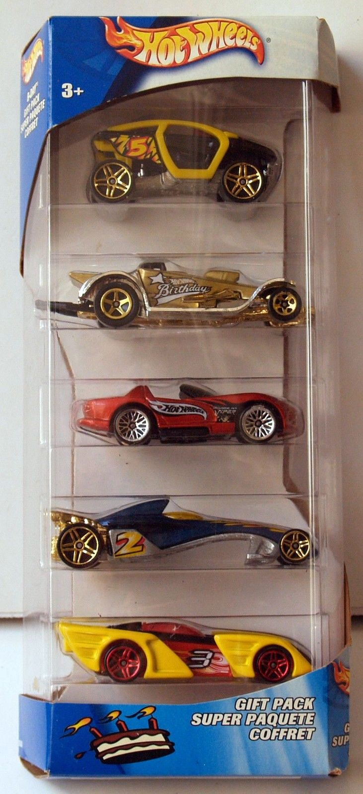 2002 HOT WHEELS - GIFT PACK SUPER PAQUETE COFFRET - 5 CAR PACK