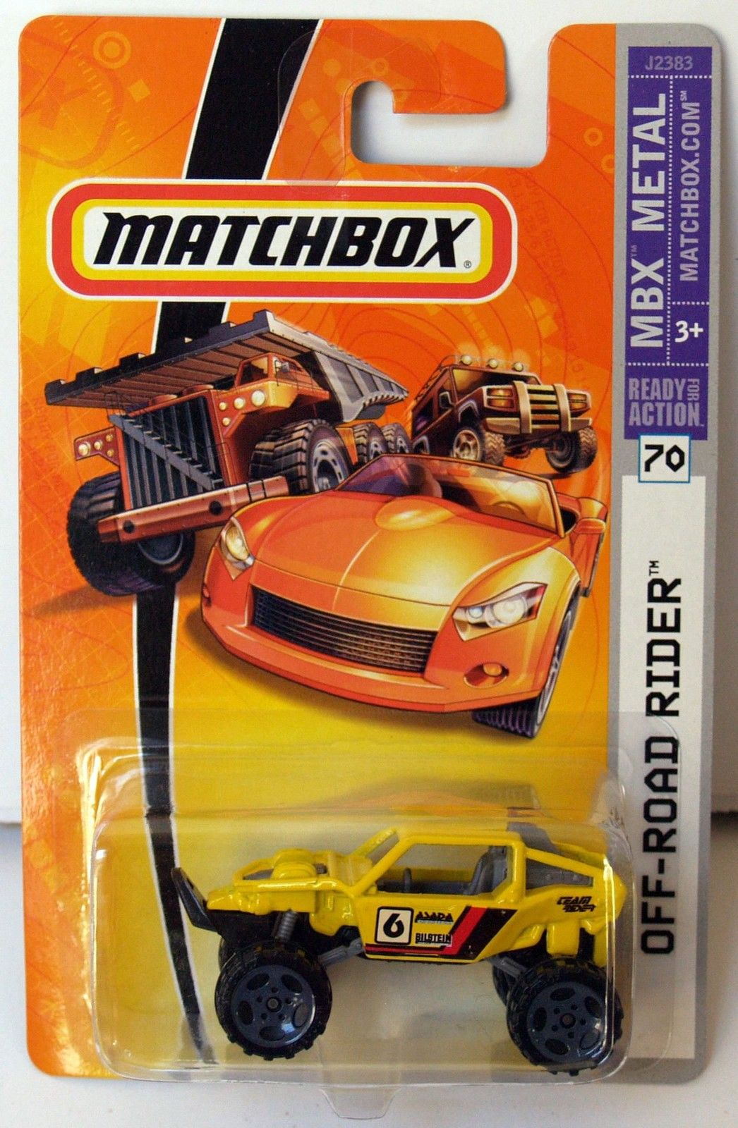 MATCHBOX 2006 OFF-ROAD RIDER #70 YELLOW E+