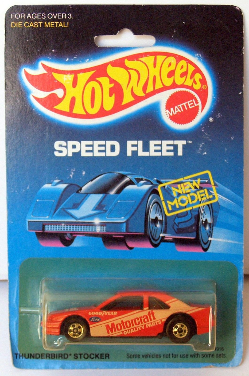 HOT WHEELS 1988 SPEED FLEET THUNDERBIRD STOCKER RED