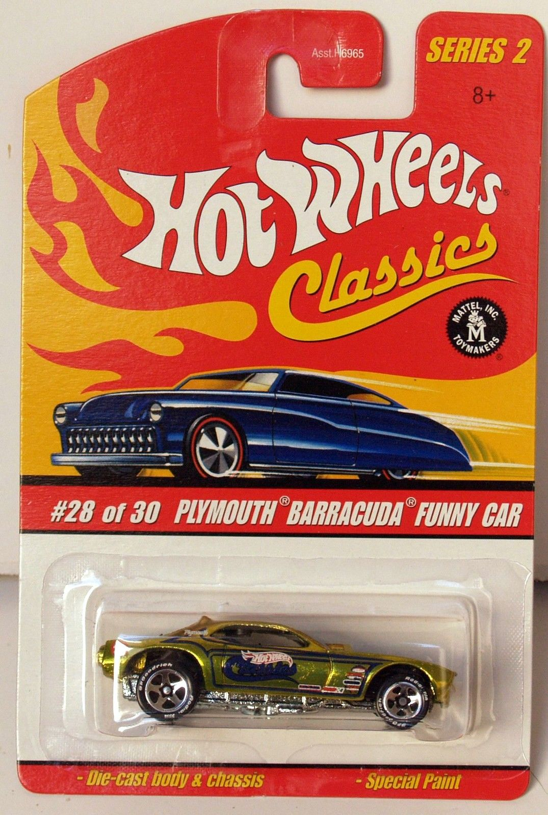 HOT WHEELS CLASSICS SERIES 2 PLYMOUTH BARRACUDA FUNNY CAR