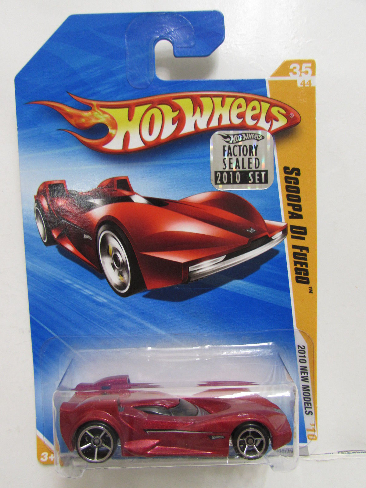 HOT WHEELS 2010 NEW MODELS SCOOPA DI FUEGO FACTORY SEALED