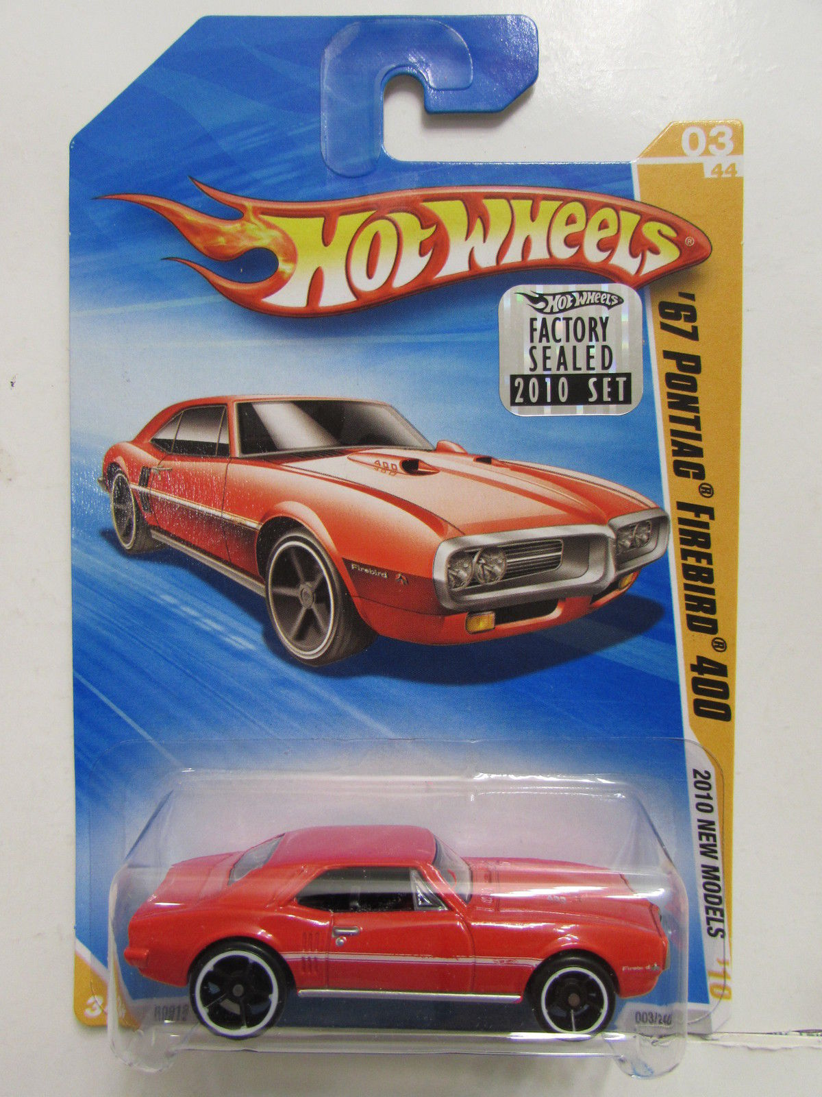 HOT WHEELS 2010 NEW MODELS '67 PONTIAC FIREBIRD 400 RED FACTORY SEALED