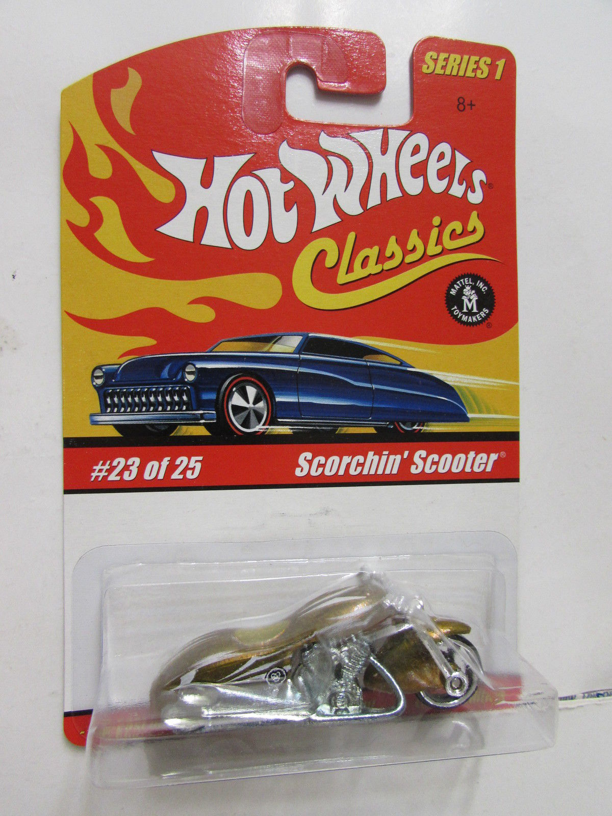 HOT WHEELS CLASSICS SERIES 1 #23/25 SCORCHIN SCOOTER GOLD