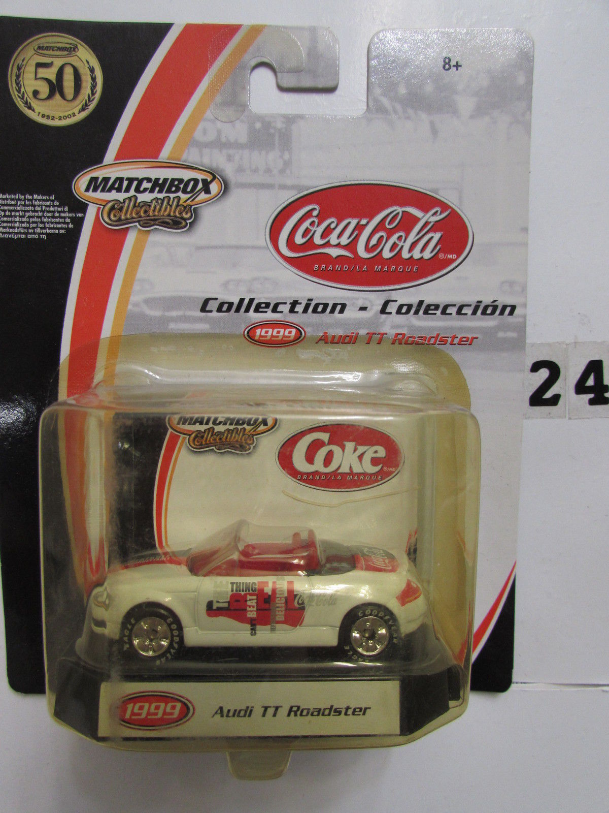 MATCHBOX COCA COLA COLLECTION AUDI TT ROADSTER 1999